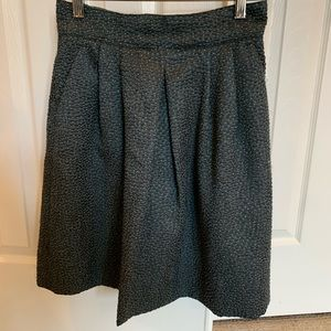 Armani pleated first green textured skirt size 4